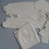 Saida maternidade ursinhos - 0 a 3 meses - Baby fashion