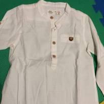 Camisa social branca - 12 a 18 meses - Zara Home Kids