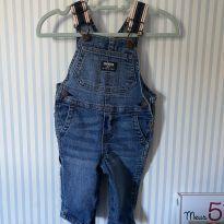 Jardineira jeans OshKosh usada uma vez - 3 a 6 meses - OshKosh