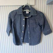 Camisa jeans Carter's - usada uma vez - 3 a 6 meses - Carter`s