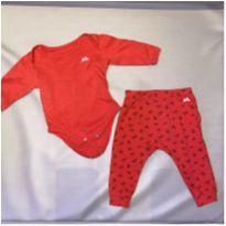 Conjunto Milon vermelho - 3 a 6 meses - Milon