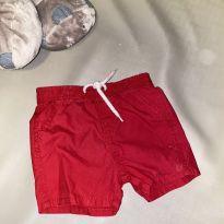 Bermudinha vermelha - 6 a 9 meses - Baby Way