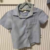 Camisa curta de botões Paola da Vinci - 6 a 9 meses - Paola BimBi