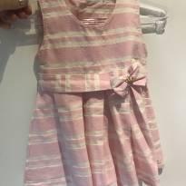 Vestido listrado rosa - 9 meses - Upi Uli