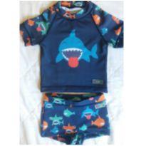 Conjunto praia/piscina camiseta + sunga - 9 a 12 meses - Marca não registrada