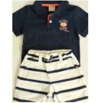 Conjunto Milon camiseta polo e bermuda de sarja tam:1 - 1 ano - Milon