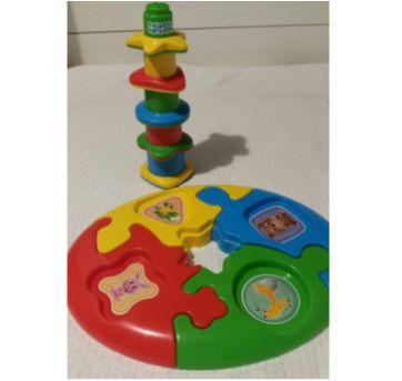 Brinquedo educativo de encaixe - Sem faixa etaria - Calesita