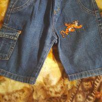 Bermuda jeans Tigrão tam 2 - 12 a 18 meses - Disney baby