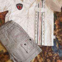Conjuntinho camisa e bermudinha GG - 9 a 12 meses - Baby Gijo