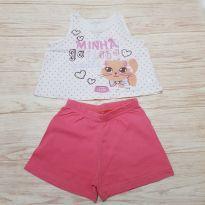 Pijama gatinha - 9 a 12 meses - Malwee