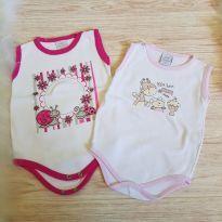 Kit com 2 body cavado tam. G - 6 a 9 meses - Bebê Precioso e Korte e Rekorte