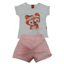 Conjunto camiseta e short raposinha Kyly 4 (muito lindo, um encanto) - 3 anos - Kyly