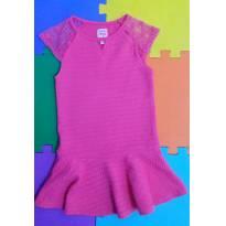 Vestido rosa festa com renda Baby Club tam 4 (divino, perfeito) - 4 anos - Baby Club