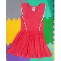 Vestido coral babados Baby Club tam 6 (fresquinho e estiloso) - 5 anos - Baby Club