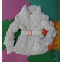 Jaqueta branca com cinto Lilica Tam 4 (super quentinha usada 2x, como nova) - 4 anos - Lilica Ripilica