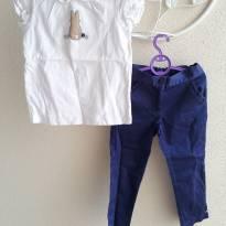 Conjuntinho camiseta e calça coelhinho Janie&Jack tam 3T (super conservado) - 3 anos - Janie and Jack