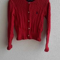 Casaquinho linha vermelho Ralph Lauren tam 4T (lindo demais, muito gracioso) - 4 anos - Ralph Lauren