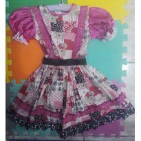 Vestido caipira lindo demais da conta 5/6 anos - 5 anos - Artesanal