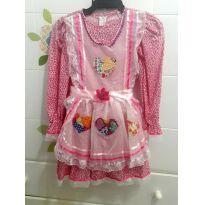 Vestido de luxo festa junina tam 6 - 5 anos - Artesanal MariseSantos