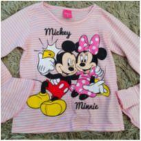 Blusa manga longa flare  Minnie e Mickey Disney tam 6 (amor define) - 5 anos - Disney