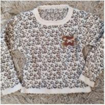 Sueter lã Oncinha tam 6 (artesanal, exclusivo) - 5 anos - Artesanal