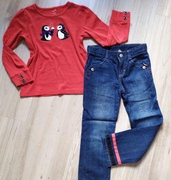 Calça jeans Gymboree 5T com detalhes (lindíssima e confortável) - 5 anos - Gymboree