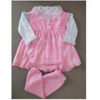 Saída de maternidade rosa nunca usada (lindíssim - 0 a 3 meses - Paola tricot