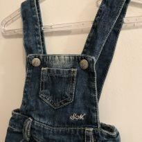 Jardineira jeans - 3 a 6 meses - Sonho Mágico