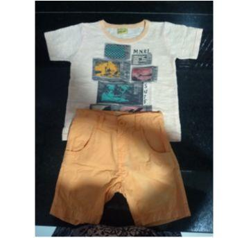 Conjunto de camiseta e bermuda - 18 a 24 meses - Mineral Kids