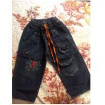 Calça jeans larguinha - 18 meses - Não informada