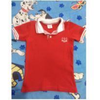 Camiseta polo vermelha Zig mund - 3 anos - Zig Mundi