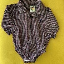 Camisa xadrez - 3 a 6 meses - Lazy