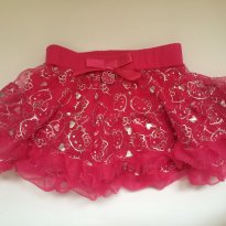 Mini saia tutu Hello Kitty PINK- 2t - 2 anos - Hello  Kitty