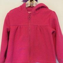 Casaco soft/ fleece - PINK com capuz - 2 anos - Poim
