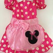 Fantasia Minnie pink + tiara - original EUA - 2 anos - Disney