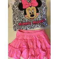 Saia Cherokee  + brinde  camiseta Disney (EUA) - 3 anos - Cherokee e Disney
