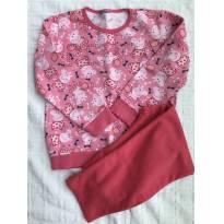 Pijama moletom  - Peppa - 6 anos - Não informada