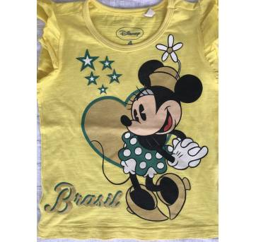 Camiseta - copa - Brasil - disney - 4 anos - Disney