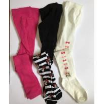 Kit  3  meias calças  - gynboree e outras - 3 anos - Gymboree e Outros