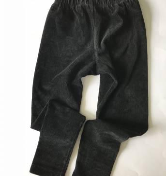 Calça  legging veludo preta - 6 anos - Não informada