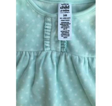 Macacão Child of mine by Cartes - verde água -  fleece - 18 MESES - 18 meses - Child of Mine