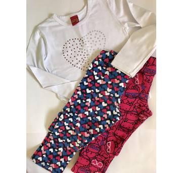 2 calças Malwee + brinde camiseta kyly - 6 anos - Malwee