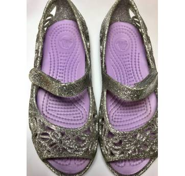 Sandália / sapatilha - CROCS - prata - tamanho C10 - 25 - Crocs