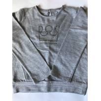 Blusa moletinho mescla - 6 anos - Colorittá