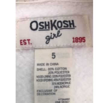 Casaco moletom com capuz - Oshkosh - 5t - 5 anos - OshKosh