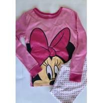Pijama Minnie - malha para meia estação - Disney Store - 6 anos - Disney