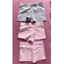 3 shorts cotton - 4 anos