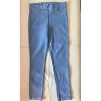 Calça legging Zara - cor  jeans claro - 7 anos - Zara