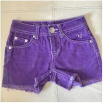 Shorts roxo - Justice - 5 anos - Justice USA