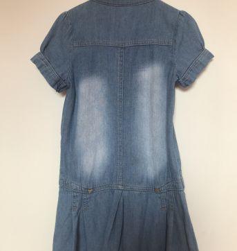 Vestido jeans - Carinhoso - 6 anos - Carinhoso